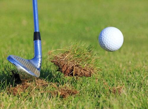 A wedge golf club.