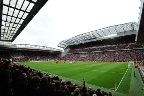 Anfield soccer stadium.