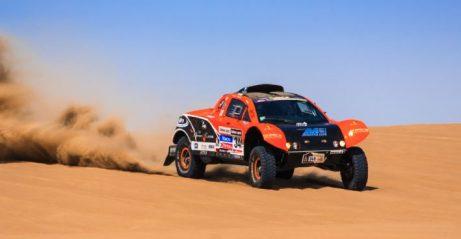 The Dakar Rally runs across the desert