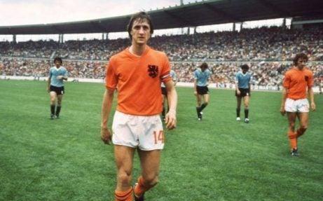 Johan Cruyff playing for the Netherlands