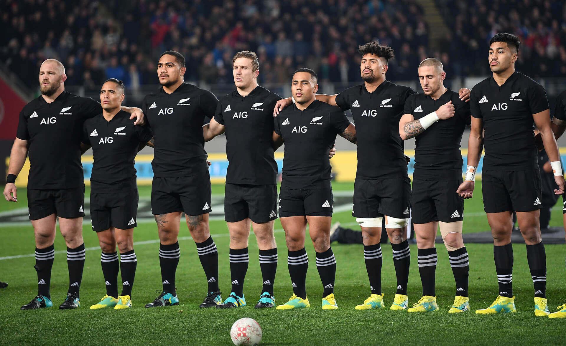 The New Zealand All Blacks.