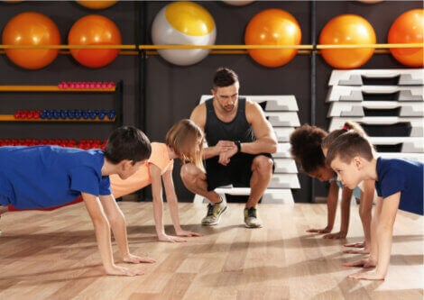 Group exercises can be great to keep kids motivated.