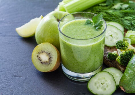 Food supplements in liquid form such as green smoothies are very beneficial.