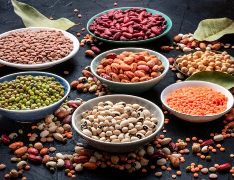 Legumes on a vegan diet.