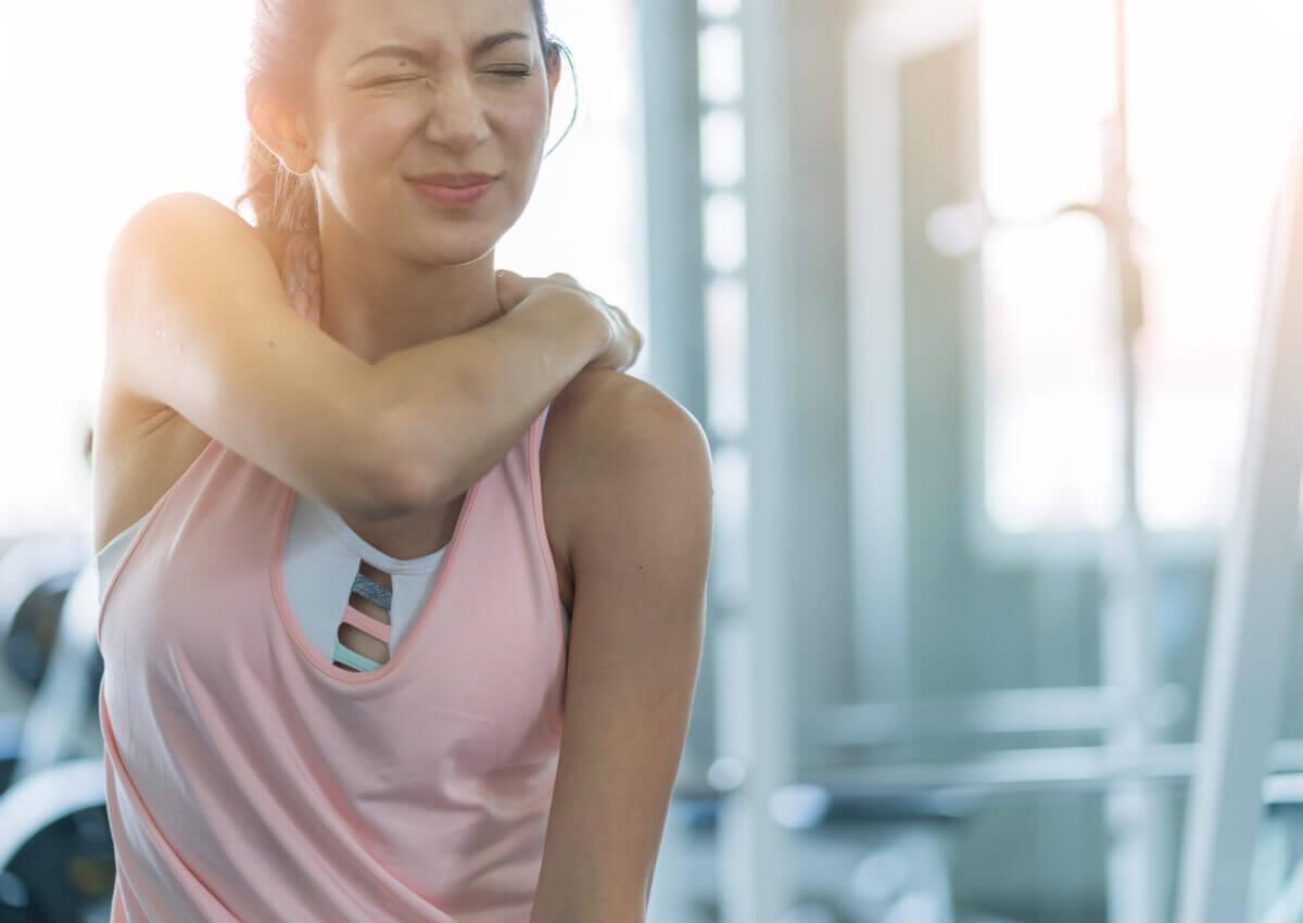 woman muscle strain