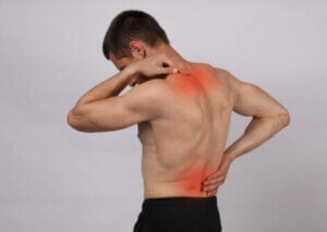 A man with back and neck pain.
