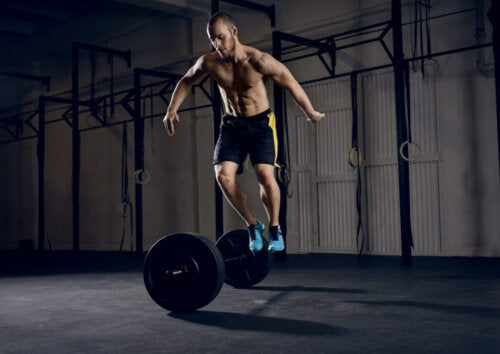A man performing the grit series.