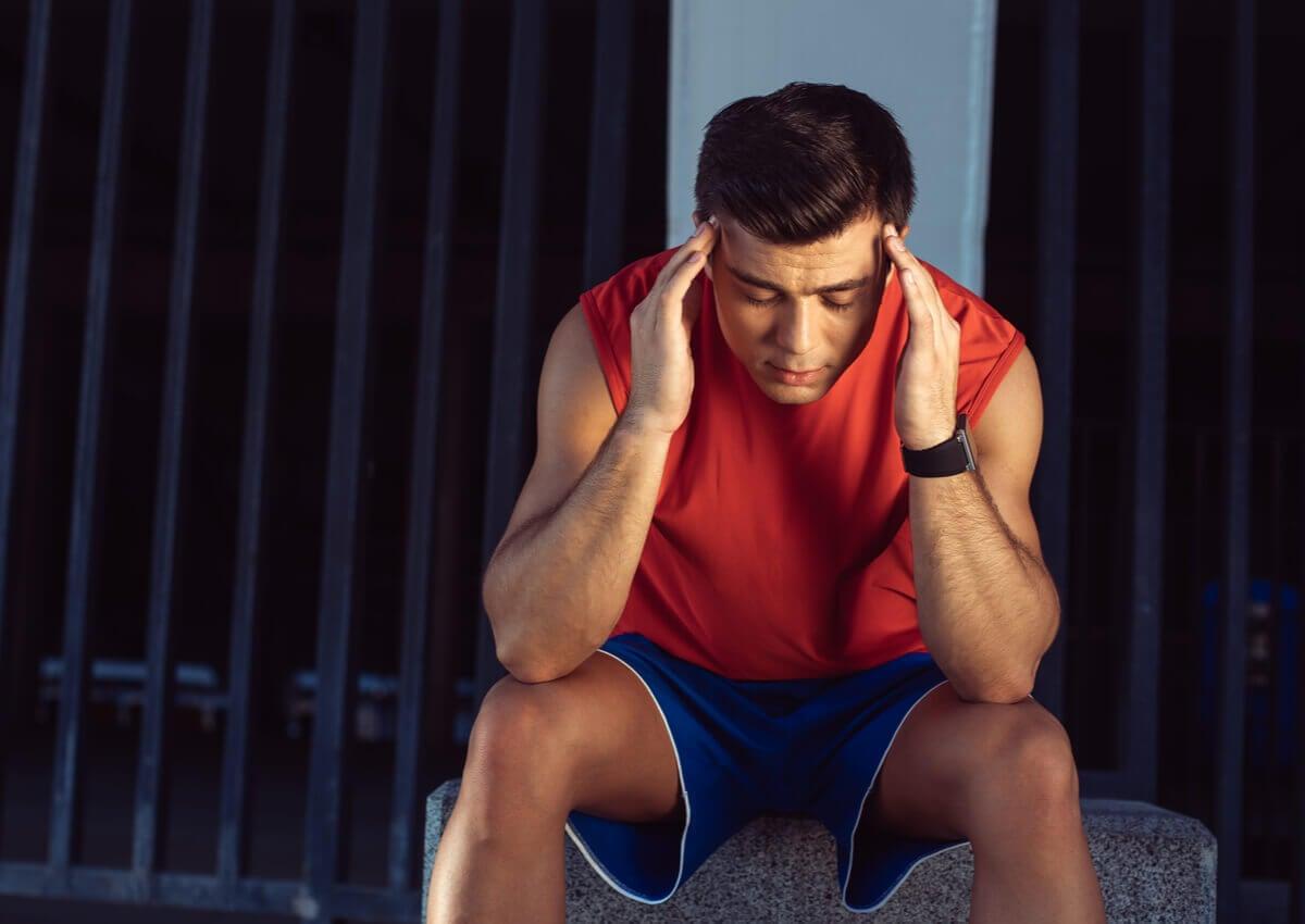 A stressed athlete.