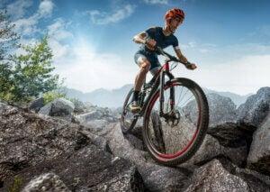 Difficult mountain biking