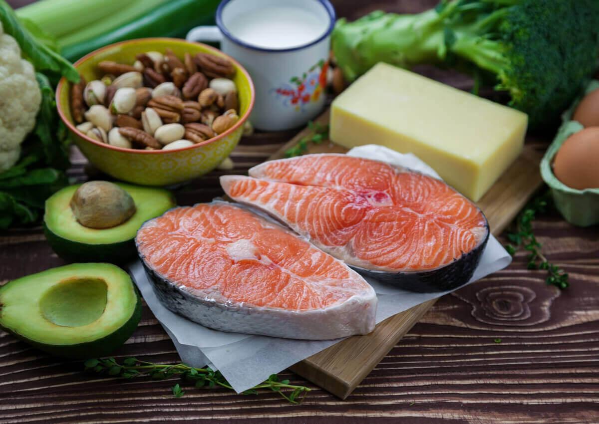Foods of the keto diet.