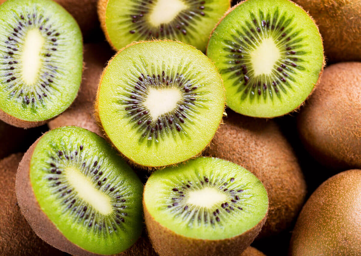 Kiwis, which are rich in vitamins.