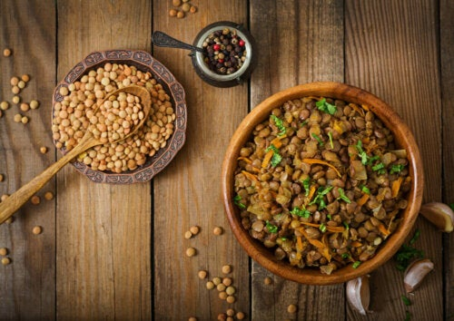 Lentils have high protein content.