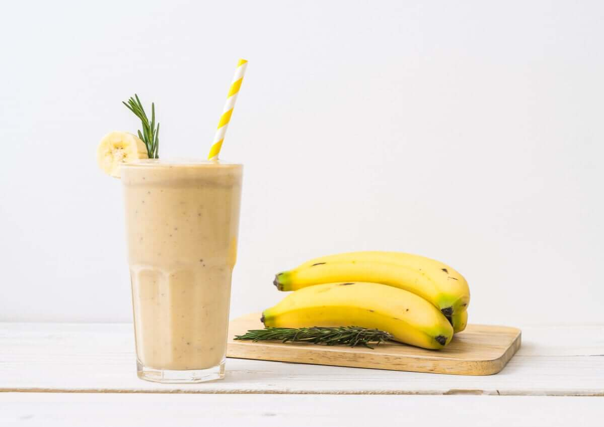 A banana smoothie.