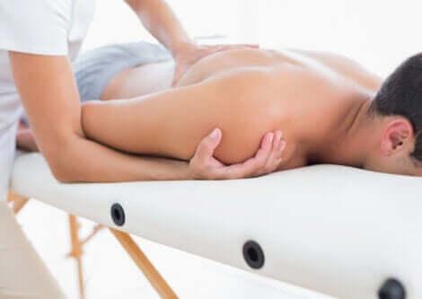A man receiving a massage.