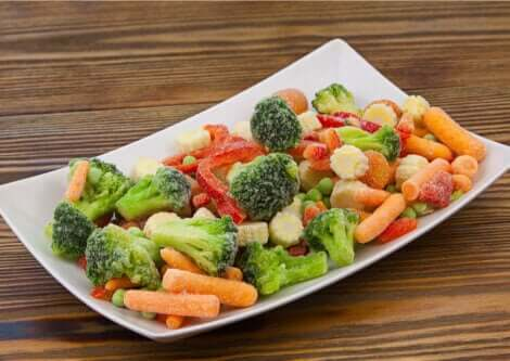 Frozen vegetables don't lose their properties.