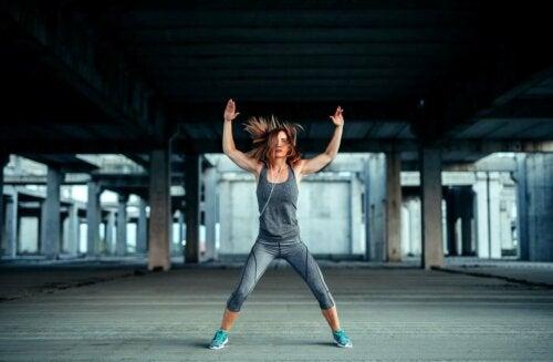 Jumping jacks can help you burn fat.
