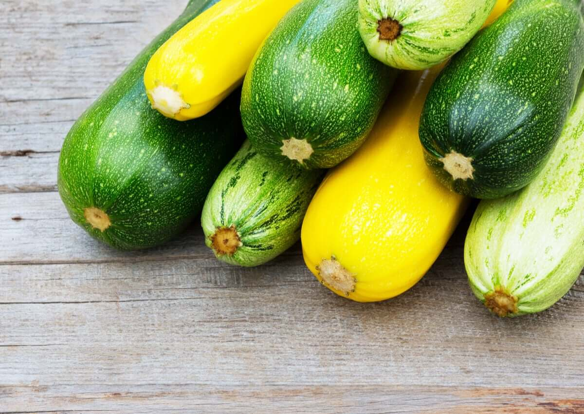 A few different types of zucchini.