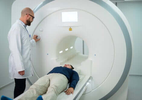 A man about to have an MRI.