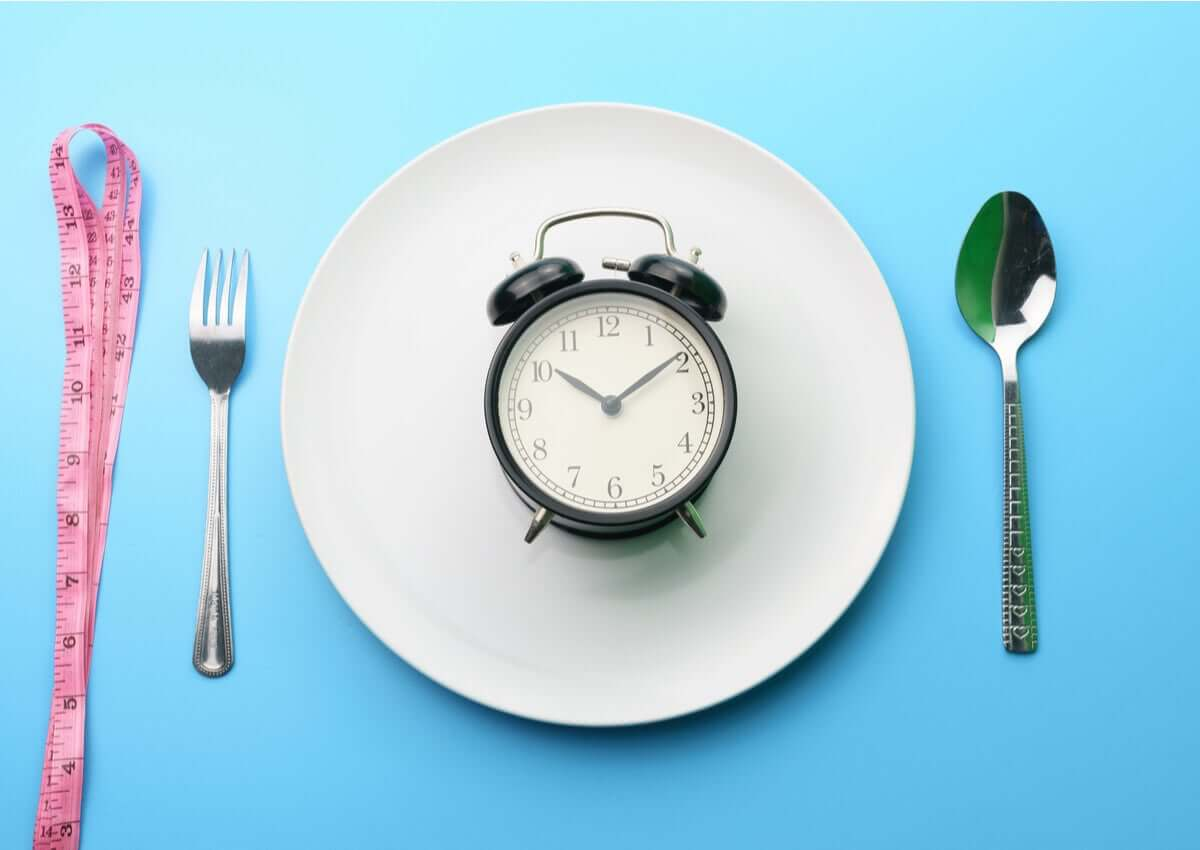 A representation of Intermittent fasting.